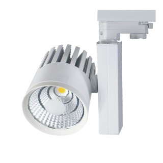 LED track lighting PROLUMEN TL white  30W 3000lm  38° warm white 3000K