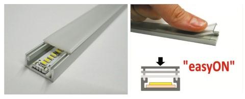Алюминиевый профиль LUZ NEGRA Milano 3m серебряный