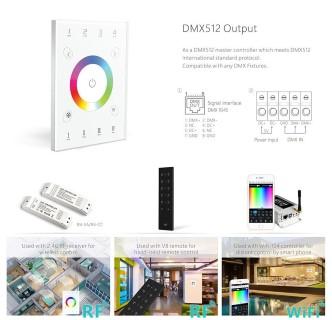 Control panel LTECH UX8 4 zone, 2.4GHz + DMX512 RGBW white  5V