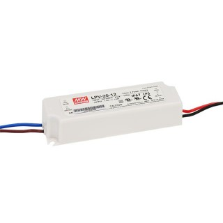 LED power supply unit MEAN WELL 12V DC  LPV-20-12  20W  IP67