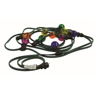Lightening effect  Belt light chain with 12 bulbs 10m  E27 IP44