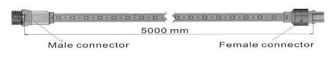LED Riba REVAL BULB 5050 5m komplekt 230V 230V 24W 2000lm CRI70 120° IP65 3000K soe valge