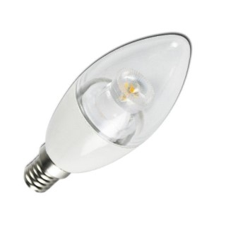 LED bulb AIGOSTAR C5 C37 candel white  6W 380lm E14 280° IP20 warm white 3000K