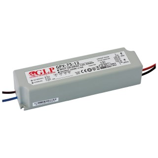 LED muuntaja GLP POWER 12V DC GPV-75-12  72W  IP67