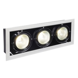 LED downlight  MODERN-DAY 3X15W black  45W 2800lm  IP20 pure white  4500K