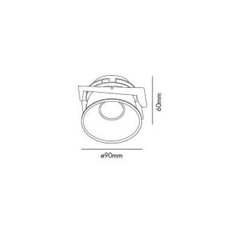 Кольцо для светильника направленного освещения  FRESH Black downlight черный  GU10