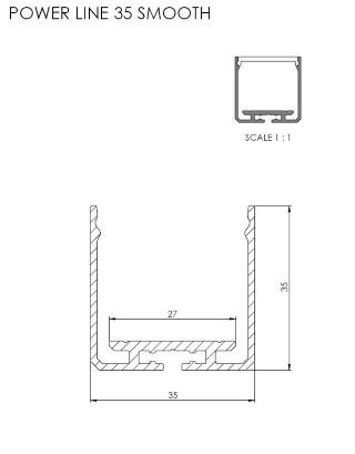 Alumiiniumprofiil  SPL35
