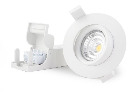 LED downlight LED downlight PROLUMEN Smart Plus 9WF DIM white round 230V 9W 700lm CRI90 40° IP44 3000K warm white