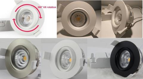 LED локальный светильник PROLUMEN Smart Plus 9WF DIM белый круглый 9W 700lm CRI90 45° IP44 3000K теплый белый