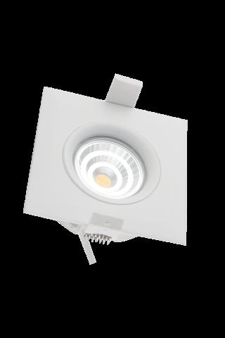LED syväsäteilyvalaisin PROLUMEN Smart Plus 9WFS valkoinen neliö 9W 720lm  45° IP44 lämmin valkoinen 3000K