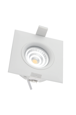 LED downlight PROLUMEN Smart Plus 9WFS white square 9W 720lm  45° IP44 warm white 3000K