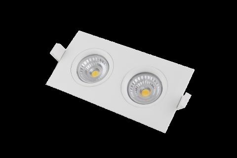 LED локальный светильник PROLUMEN Smart Plus 2x9W белый прямоугольник 18W 720lm  45° IP44 теплый белый 3000K