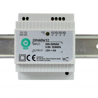 LED Toiteplokk POS POWER 12V DC DIN-60-12 230V 60W IP20