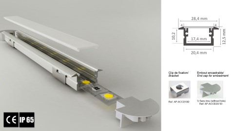 Alumiiniprofiili LUZ NEGRA Berlin XL 2m hopea