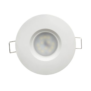 LED downlight UL white round 230V 6.5W 480lm CRI80 120° IP44 2700K warm white