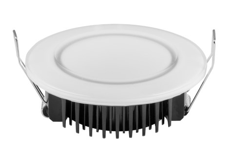 LED downlight  UL white round 12W 820lm  120° IP44 warm white 2700K