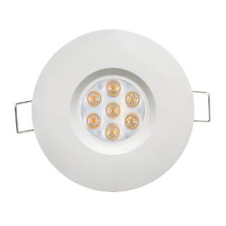LED Allvalgusti LED Allvalgusti  UL valge ring 6.5W 560lm CRI80  45° IP44 2700K soe valge
