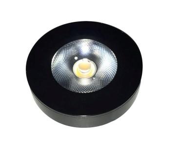 LED cabinet light PROLUMEN FD black round 7W 600lm  30° IP44 warm white 3000K