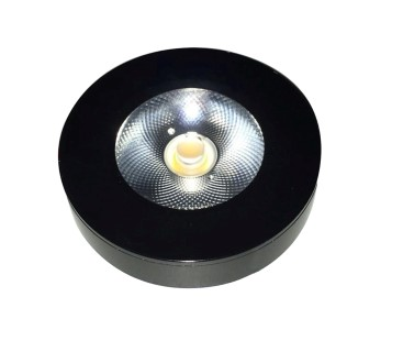 LED cabinet light PROLUMEN FD black round 10W 900lm  30° IP44 warm white 3000K