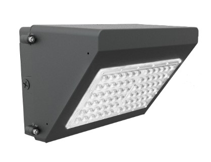 LED wall light PROLUMEN WP black  120W 13650lm  125x46° IP65 pure white 4000K