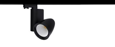 LED kiskovalaisin PROLUMEN Kiev musta  25W 2440lm  45° IP20 lämmin valkoinen 3000K