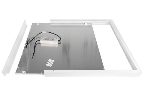 LED Paneel 600x600 paneeli raam valge