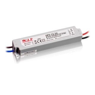 LED muuntaja GLP POWER 24V DC GPV-12-24  12W  IP67