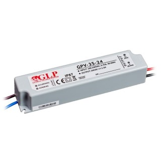 LED блок питания GLP POWER 24V DC GPV-35-24  36W  IP67
