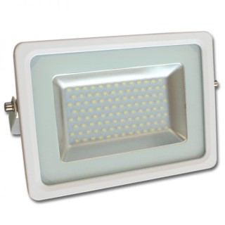 LED valonheitin  Slim valkoinen  50W 4500lm  120° IP65 kylmä valkoinen 6000K