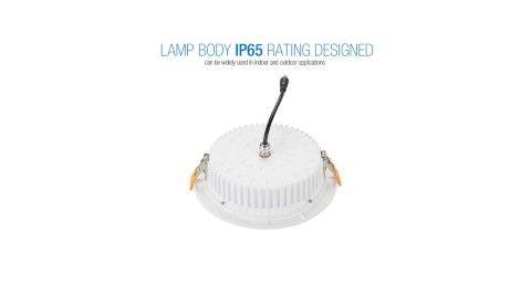 LED Allvalgusti PROLUMEN DL110 valge ring 230V 25W 2300lm CRI80 90° IP65 3000K soe valge
