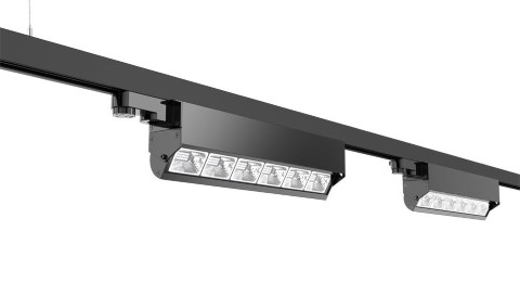 LED Siinivalgusti PROLUMEN Washington must 230V 40W 5200lm CRI80 30x60° IP42 3000K soe valge