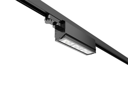 LED track light PROLUMEN Washington black 230V 40W 5200lm CRI80 30*60° IP42 4000K pure white