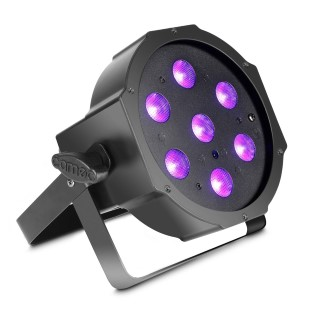 Floodlight CAMEO FLAT PAR CAN 7X3W IR black  20W  40° UV