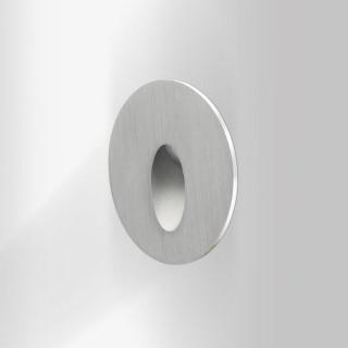 LED wall light REVAL BULB SL07 silvery round 12-24V 3W IP44 3000K warm white