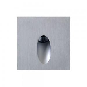 Настенный LED светильник Настенный LED светильник REVAL BULB SL06 серебряный квадрат 230V 3W 250lm CRI80 IP44 3000K теплый белый