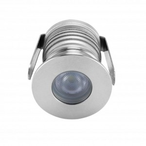 LED recessed wall light PROLUMEN S02 12-24V silvery round 3W 250lm  30° IP65 warm white 3000K