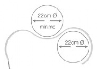 Alumiiniumprofiil LUZ NEGRA Harmony 3m hõbedane