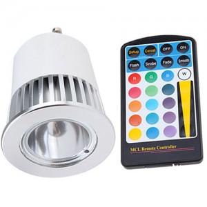 LED Pirn LED Pirn REVAL BULB MCC, IR pult  5W GU10 30° IP20 RGB