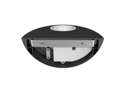 LED wall light PROLUMEN WL06B black 230V 12W 1100lm CRI80 60° IP54 3000K warm white