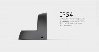 LED Seinavalgusti PROLUMEN WL06B must  12W 1100lm  60° IP54 soe valge 3000K