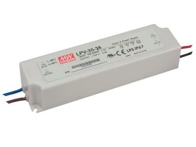 LED power supply unit LED power supply unit MEAN WELL 24V DC  LPV-35-24 230V 35W IP67