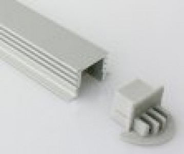 Aluminium profile LUZ NEGRA Berlin XL endcup without hole, round