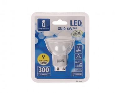 LED Pirn AIGOSTAR MR16 A5 COB 230V 6W 300lm CRI80 GU10 30° 3000K soe valge