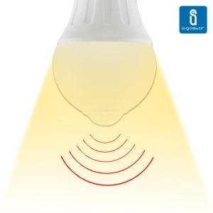 LED Pirn AIGOSTAR A5S A60B Liikumisanduriga  6W 450lm CRI80 E27 280° IP20 3000K soe valge