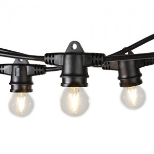 Lightening effect  Belt light chain with 50 bulbs 25m  E27 IP44