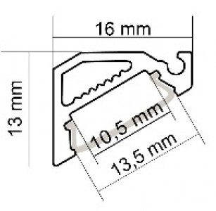 Алюминиевый профиль LUMINES Type H 2m, белый