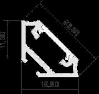 Алюминиевый профиль LUMINES Type C 2m, белый