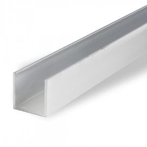 Alumiiniumprofiil U profiil 18x18 (sise 15x15) x2 2,5m