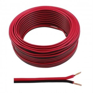 Cable 2x0,75mm² 1m red black