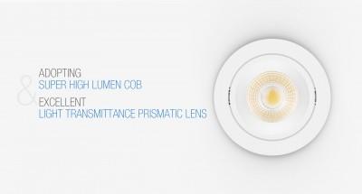 LED downlight PROLUMEN CL79 DIM white  10W 900lm  36° IP40 warm white 3000K